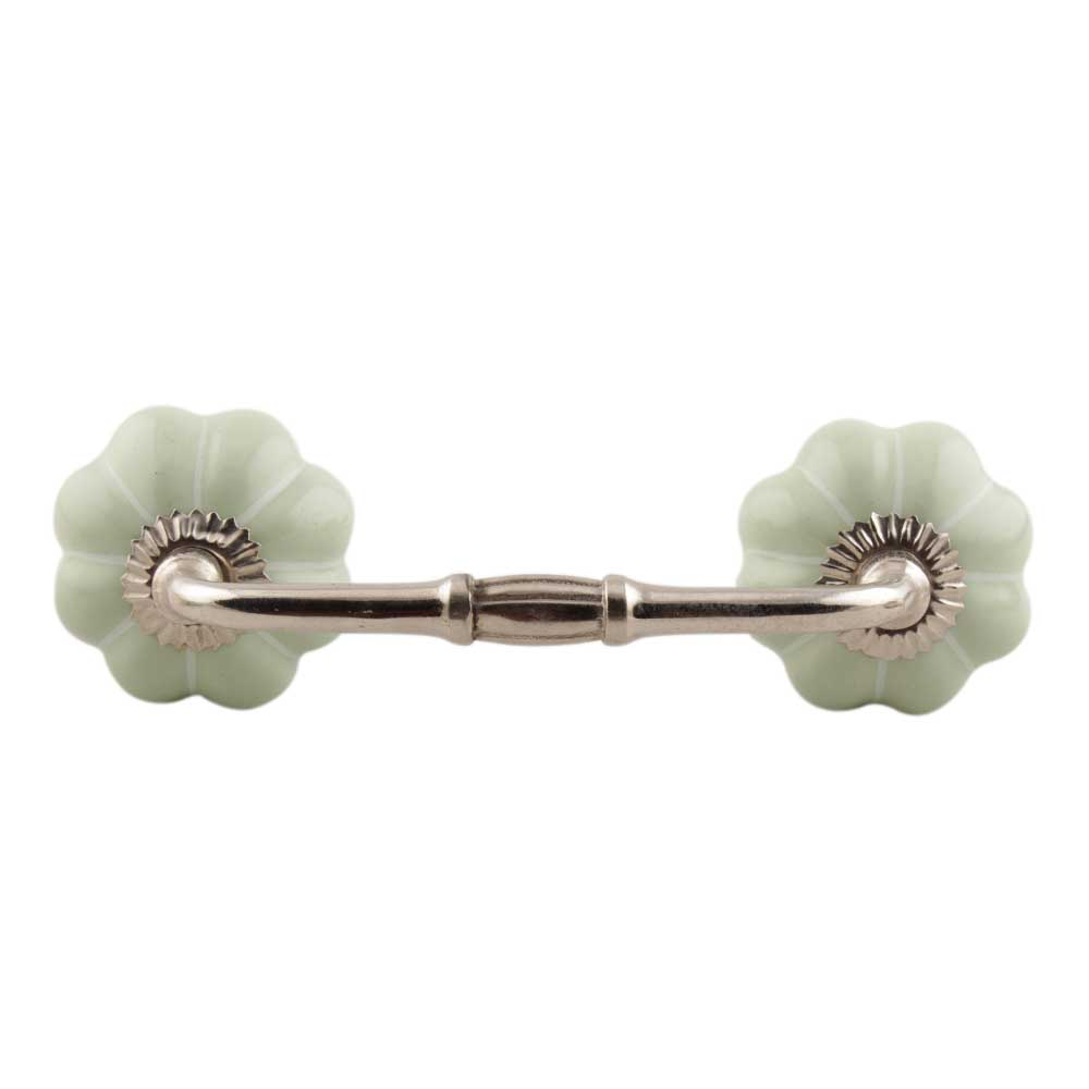 Light Green With White Line Melon Ceramic Bridge Handle